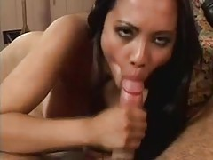 Asian sits on his face and sucks his dick tubes