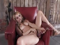 Lexi Belle in an erotic solo display tubes