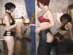Sub girl takes sexy punishment from dommes tubes