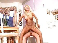 Blonde amateur has shaved box to fuck tubes