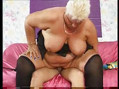 Fat bitch with short hair sucks his cum out tubes