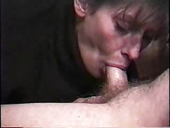 Wife in turtleneck gives a deepthroat blowjob tubes