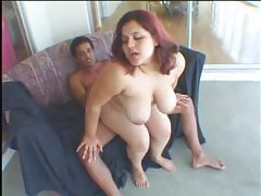 Fat chick shows off and fucks tubes