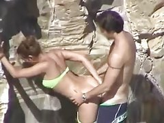 BJ joins bikini girl at beach for a fuck tubes