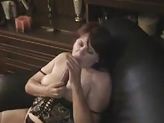 Chubby solo mature in lingerie toys tubes