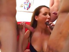 Three guys face fuck a hot slut tubes