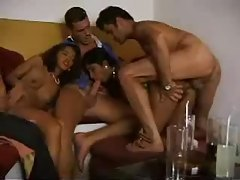 Latina chicks in a fun foursome tubes