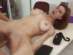 Milf redhead nailed hard on a desk tubes