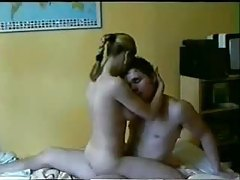Girl rides her man aggressively tubes