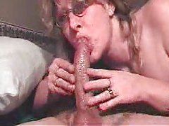 Deepthroat BJ from cutie in glasses tubes