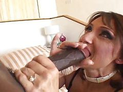 Drilling the lingerie mature with his dick tubes