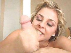 Watch as she deepthroats your cock tubes