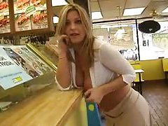 Girl in public showing huge tits tubes