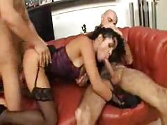 Amazing slut has rough sex with two guys tubes