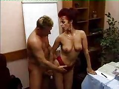 Fucking a lusty redhead in her pussy tubes