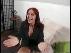 British slut with red hair is boned hard tubes