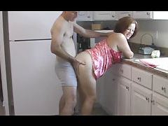 Couple fucks in the kitchen in the morning tubes