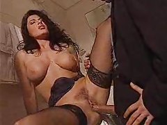 Big cock pounds her pussy hole tubes