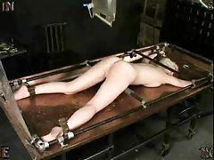 She gets an enema and it is messy tubes