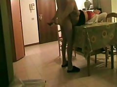 Hidden video camera shows aunt taking nephew cock tubes