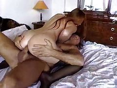 Horny girl in black stockings fucked in her ass tubes