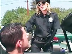 Cop lady in black latex is super hot tubes