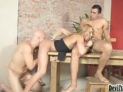 Hot blonde tranny with feminine body anally fucked tubes