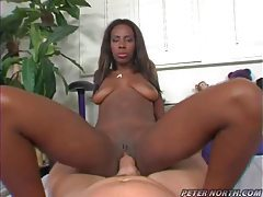 Black slut slammed by fat dick in hot scene tubes
