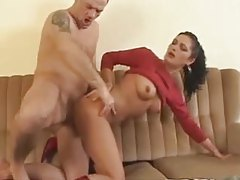 Hard nipples girl fucked from behind tubes