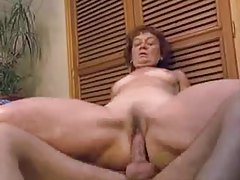 Hot mature in her bathroom takes young cock tubes