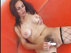 Hairy mature pussy fucked in her cunt tubes
