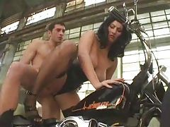 Corset girl on a bike fucked hard tubes
