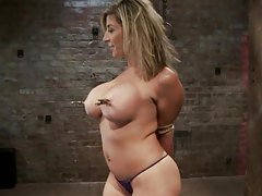 Sara Jay in a tit bondage video tubes