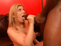 Sara Jay makes oral love to his big black cock tubes