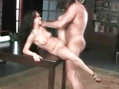 Slim and glamorous hottie fucked in her shaved hole tubes