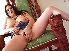 Curvy girl fondles and displays her hot titties tubes