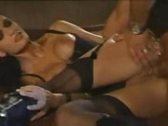 Utterly flawless body on a chick having anal sex tubes