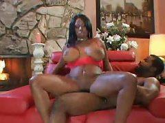 Black guy unloads jizz on her face tubes