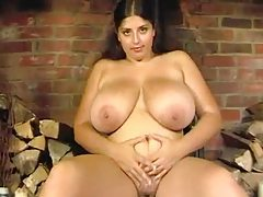 Fat girl strips from a black dress tubes