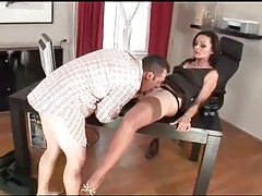 He gives pleasure to her European pussy tubes