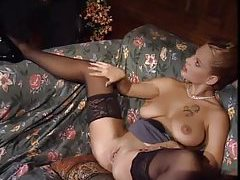 Elegant girl in satin panties fucks for hubby tubes