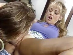 Lesbian pussy and ass eating in the office tubes