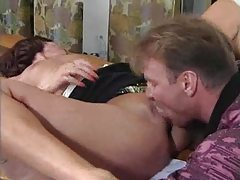 He licks her first and then fists her pussy tubes