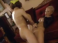 Erotic short-haired Euro girl with big titties fucked tubes