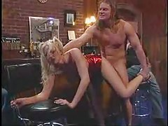 Blonde stripper slut fucked in a bar tubes