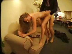 Skinny hot girl with small tits and curly hair fucked tubes