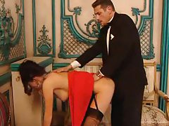 Glamorous European girl fucked in the ass tubes