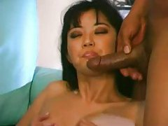 Asian in a hot double penetration with a facial tubes