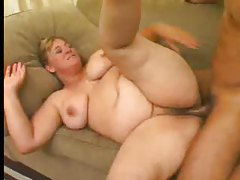 Hairy fat girl likes how he uses her hard tubes