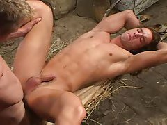 Muscular gay guy fucked up the ass tubes